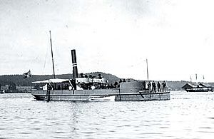 HNoMS Uller (1876) - Image: Norwegian 2. class gunboat