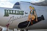 "Nose art on A-26B Invader '41-39359' ""Million Airess"" (NL26BP) (40246000592).jpg"
