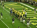 Notre Dame vs. Michigan football 2013 08 (2012–13 men's basketball team).jpg