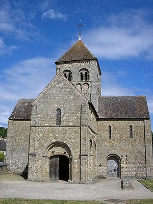 Domfront, Orne - The Romanesque church Notre-Dame-sur-L'eau