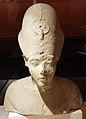 Nuovo regno, XVIII dinastia, busto di akhenaton, calcare con tracce di pittura, 02.JPG