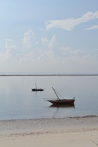 Nyali Beach from the Reef Hotel during high tide and still conditions in Mombasa, Kenya 5.jpg