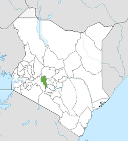 Location of Nyandarua County (Green)