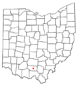 Location of Piketon, Ohio