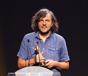 Film director Emir Kusturica won the Palme d'Or twice at Cannes Film Festival OIFF 2013-07-12 Opening Ceremony. Opera-House kusturica.jpg