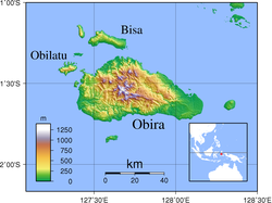Obi Islands Topography