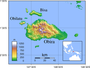 Obi Islands - Image: Obi Islands Topography