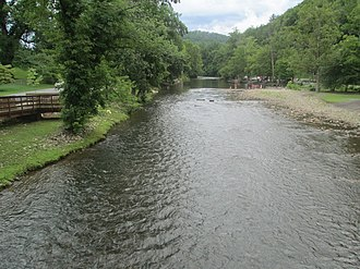 Swain County, North Carolina - Oconaluftee River in Cherokee, North Carolina