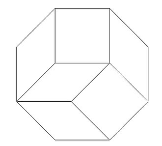 Zonogon - Regular octagon tiled by squares and rhombi