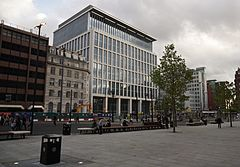 Office building and St Peter's Square, Manchester.jpg