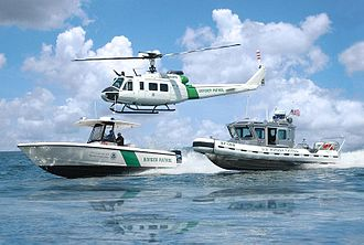 Illegal immigration - Border patrol at sea by the U.S. Customs and Border Protection