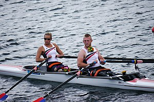 Adaptive rowing - Image: Oksana Masters Rob Jones mixed sculls final 2012