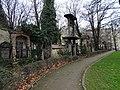 Olšanské hřbitovy, hřbitov I, jižní strana, zvonice.jpg