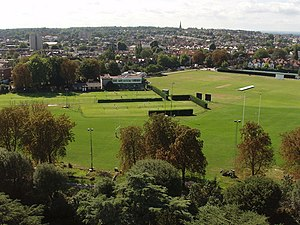 Old Deer Park sports grounds, view south from Kew Gardens pagoda - geograph.org.uk - 226902.jpg