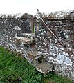 Old Dunscore Kirk cemetery access steps and loupin on stane, Dumfries and Galloway.jpg