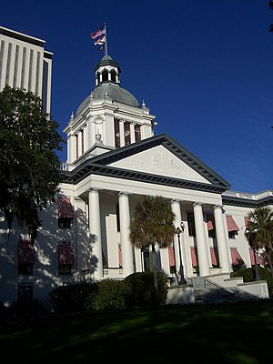The old Florida Capitol Building with the new ...