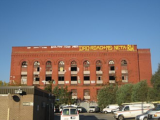"Gowanus, Brooklyn - The former Power House (locally nicknamed ""The Batcave""), currently vacant and owned by Verizon Communications."