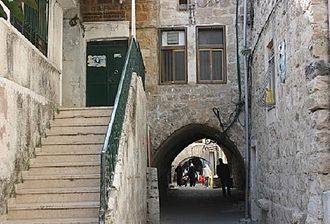 Nablus - Alley in the Old City leading to and from the souk, 2008