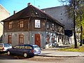 """Old wooden building over reconstruction. """"Workers district"""" of Rīga. October, 2010 - panoramio.jpg"""