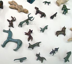 Votive offering - Bronze animal statuettes from Olympia, votive offerings, 8th–7th century BC.