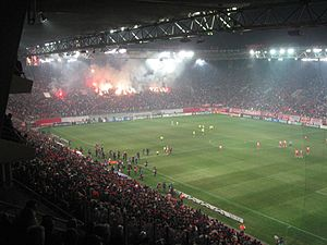 The First Match Between Olympiacos And Chelsea In Karaiskakis Stadium For The 2007 08 Uefa Champions League First Knockout Round