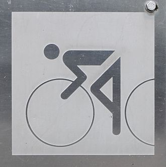 Stick figure - Image: Olympic games 1972 cycling 0533