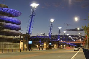 Stadium Australia - Nighttime view of Sydney Olympic Park