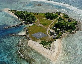 Omelek Island - Aerial view