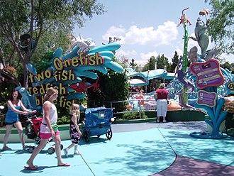 One Fish, Two Fish, Red Fish, Blue Fish - Entrance of the One Fish, Two Fish, Red Fish, Blue Fish ride at Islands of Adventure.
