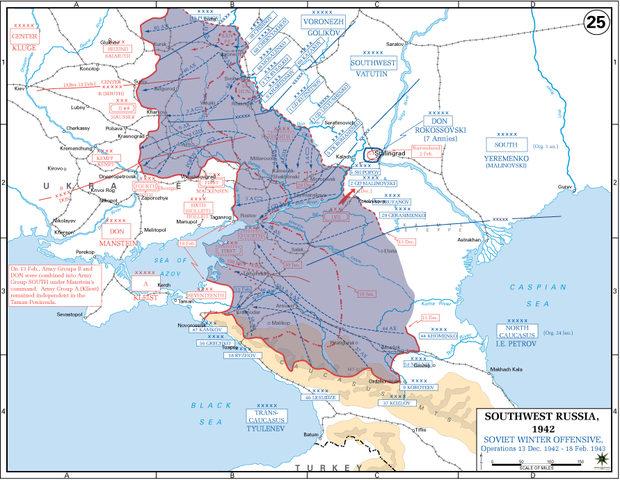 Soviet gains (shown in blue) during Operation Little Saturn OperationLittleSaturn.PNG