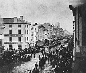 Old Toronto - Orangemen's Parade in the late 1860s on King Street East