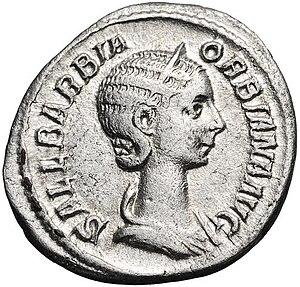 Sallustia Orbiana - Denarius of Orbiana