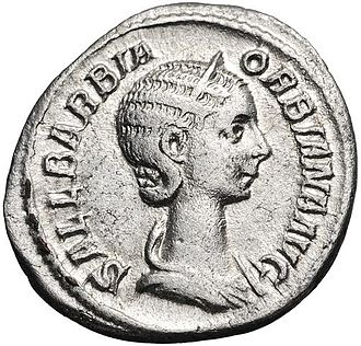 Severus Alexander - Denarius of Sallustia Orbiana