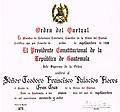 Ordenqueztal diploma.jpg