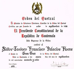 Ordenqueztal diploma
