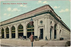 Back Bay station - The 1899-built Back Bay station on an early postcard