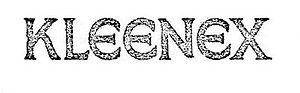 Kleenex - Original 1925 Kleenex trademark