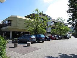 Das Rathaus der Gemeinde Mandelbachtal in Ormesheim, Saarland