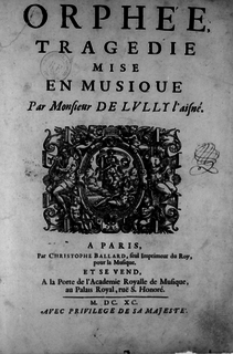 <i>Orphée</i> (Louis Lully) opera by Louis Lully
