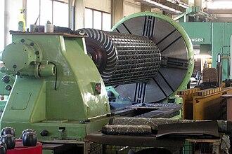 Cross-flow turbine - Ossberger turbine runner