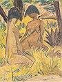 Otto Mueller - Zwei sitzende Akte im Gras - ca1925.jpeg