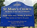 Our Lady of Willesden - signage.jpg