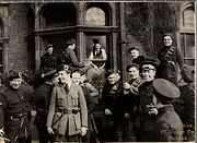 Outside the London and North Western Hotel in Dublin, April 21, 1921