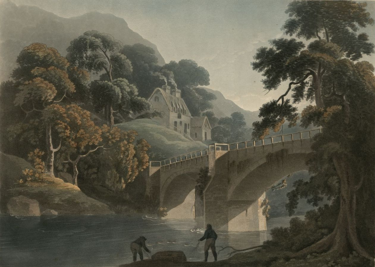 To Charles Browne Esqr this view of Overton Bridge is with the greatest respect inscribed by his obedient & obliged servants T. Walmsley & Francis Jukes