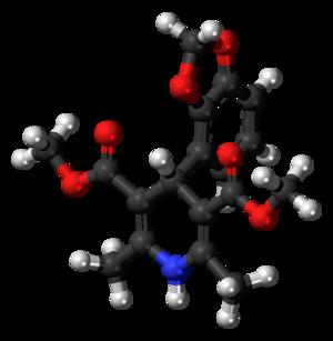 Oxodipine - Image: Oxodipine 3D balls