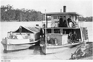 Transport in South Australia - Image: P. S. Sapphire, Murray River, Australia