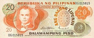 Philippine twenty peso note - Image: P20 Bagong Lipunan series (Obverse)
