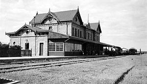 Puerto Deseado Railway - Puerto Deseado station, 1936.