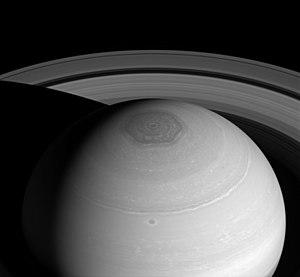 Saturn's hexagon - Image: PIA18274 Saturn North Polar Hexagon Cassini 20140402