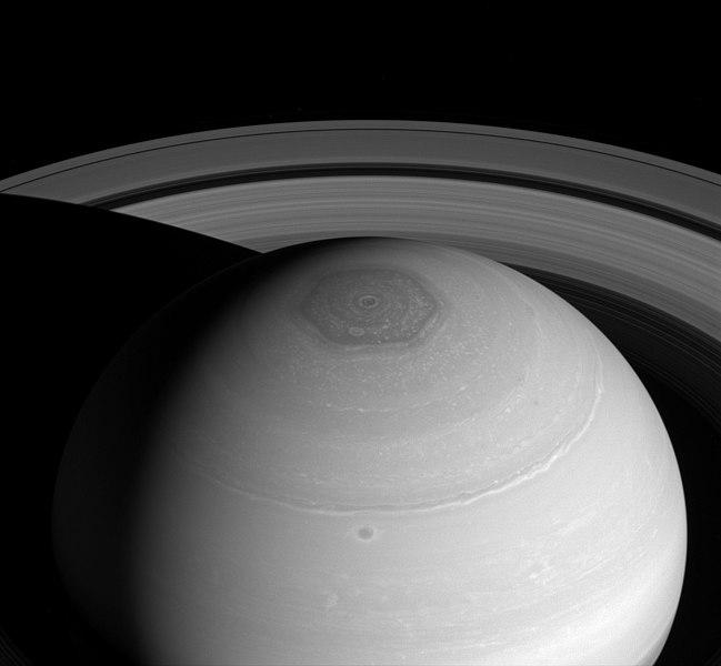 Sechseck am Nordpol des Saturn